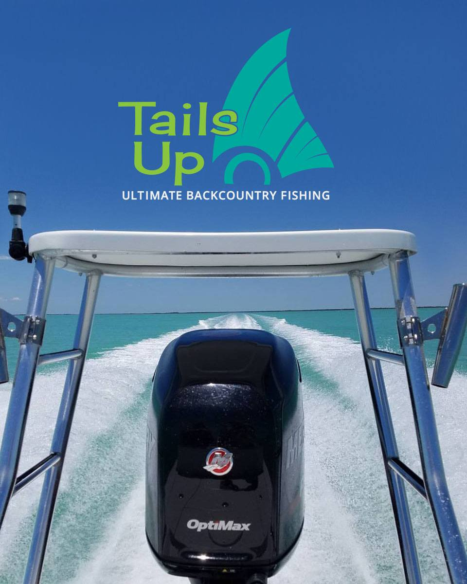 tails up florida keys fishing charter boat motor