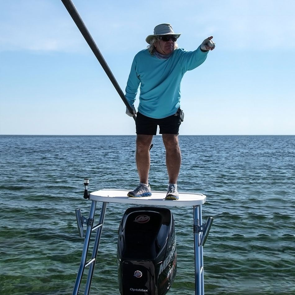 fishing key largo pole pushing
